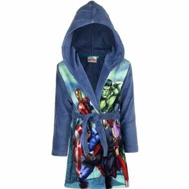 Avengers badjas blauw jongens kind