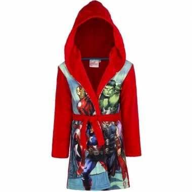 Avengers badjas rood jongens kind