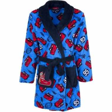 Cars fleece badjas blauw jongens kind