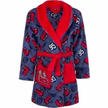 Cars fleece badjas rood blauw jongens kind