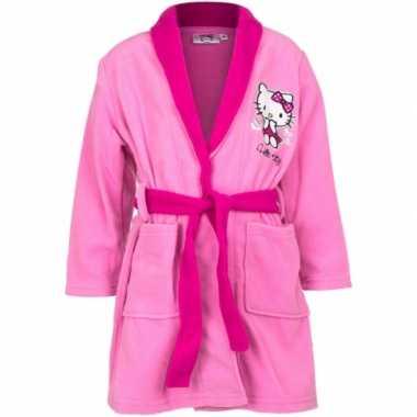 Hello kitty badjas roze meisjes kind