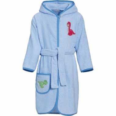 Kinder badjas blauw