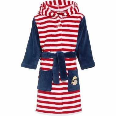 Kinder badjas rood wit gestreept kind