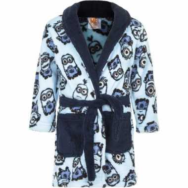 Minions fleece badjas blauw jongens kind