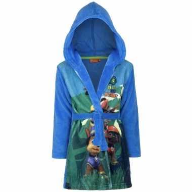 Paw patrol fleece badjas blauw jongens kind