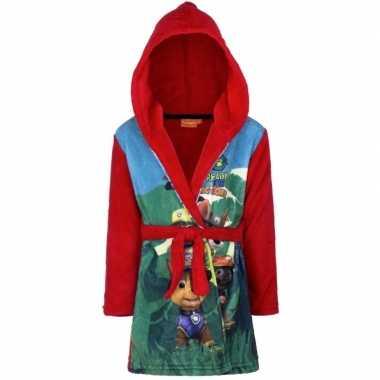 Paw patrol fleece badjas rood jongens kind