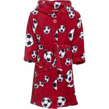 Rode badjas voetbal jongens kind