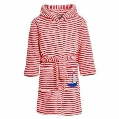 Rood/witte badjas/ochtendjas strepen kinderen