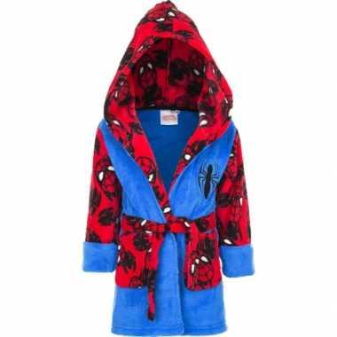 Spiderman badjas jongen blauw/rood kind
