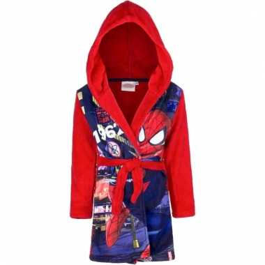 Spiderman fleece badjas rood jongens kind
