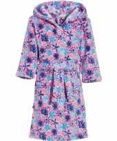 Kinder badjas roze bloemen kind