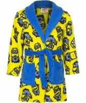 Minions fleece badjas geel jongens kind