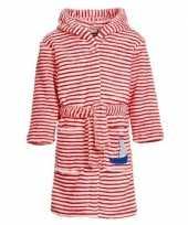 Rood witte badjas ochtendjas strepen kinderen
