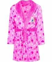 Roze princess badjas capuchon meisjes kind